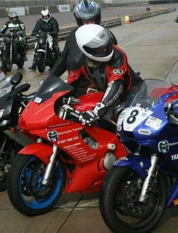 Motorcycle Racer - Trystan Finocchiaro is sponsored by RMT motorcycle training